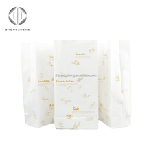 hot product 2018 custom printed white kraft paper bags for bread bakery cookie food packaging