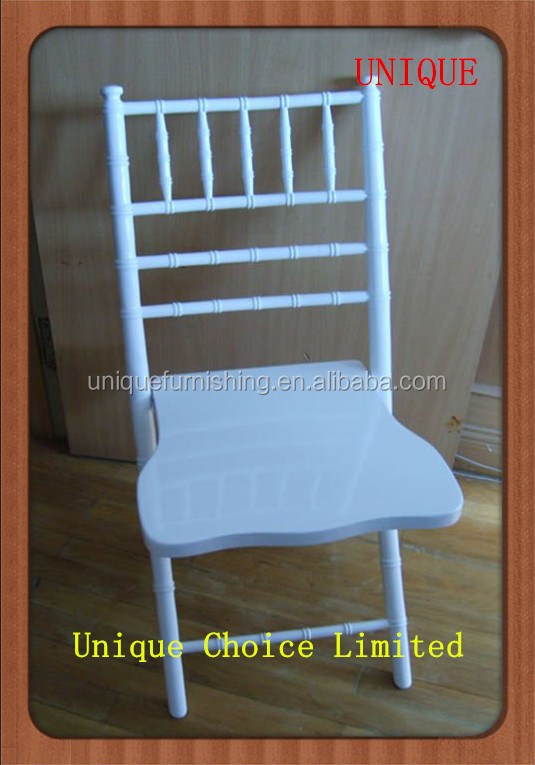 Used Wooden Folding White Tiffany Wedding Chairs