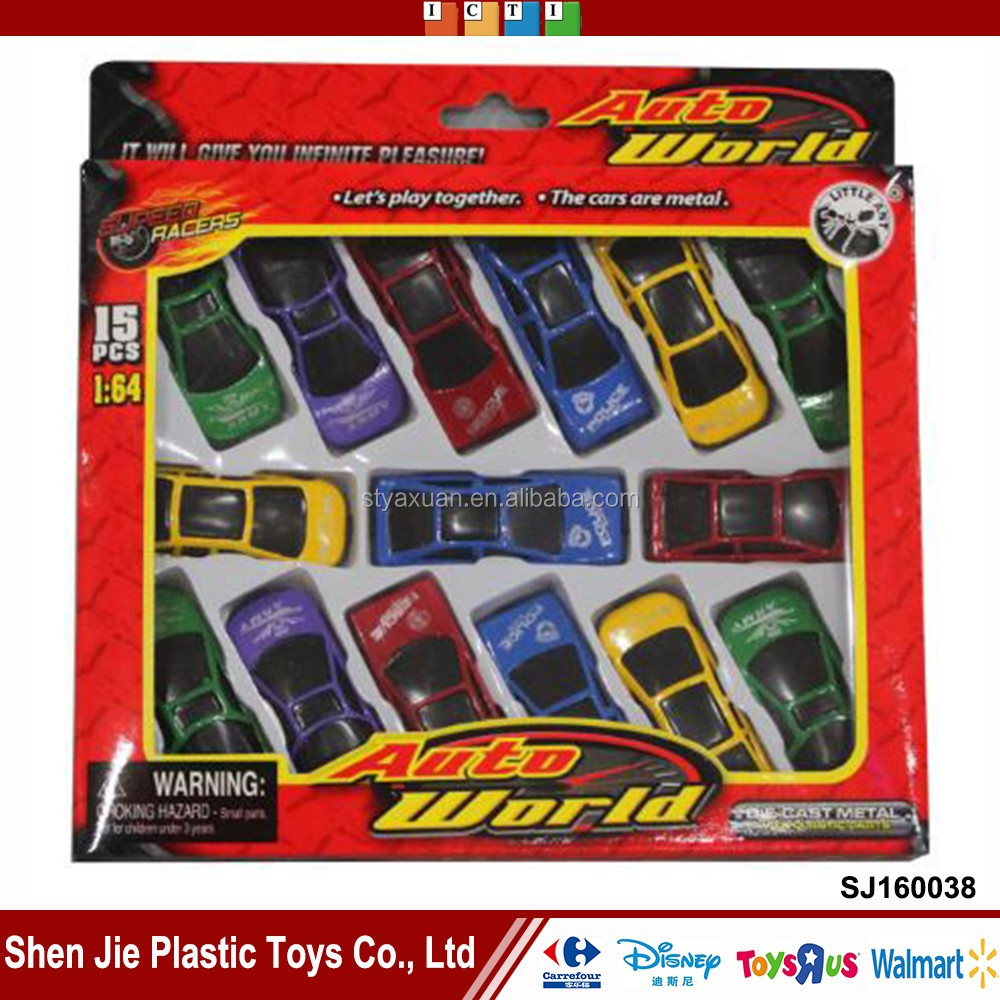 15pcs metal mini car 1/64 hot wheels sliding die cast cars for kids