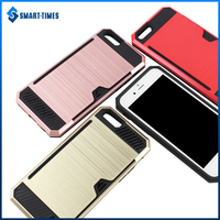 [Smart Times] 2016 Wallet Design PC+TPU Phone Case for iphone 6 Cover with Credit Card Slot