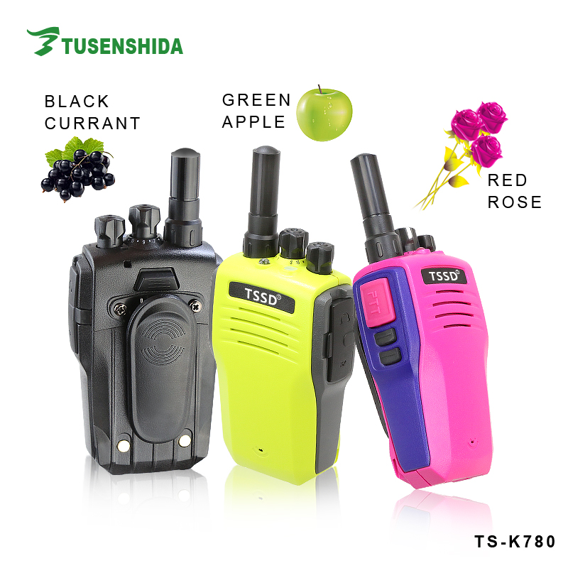 Newest colorful and smart TSSD 16 Channels portable two way communication device with dualband mini TS-K780 radio