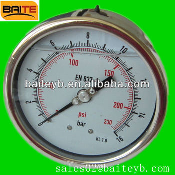 Bourdon tube manometer