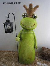 Mgo Frog Decorative With Lantern