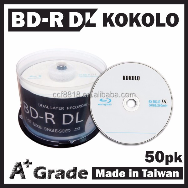 Taiwan A+ blue ray disk 50GB 6X, bd-r manufacturer, Taiwan product wholesale