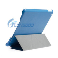Hot selling Pure Color Slim Magnetic Translucent with Holder & Sleep / Wake-up Function Smart Leather Case For iPad Air