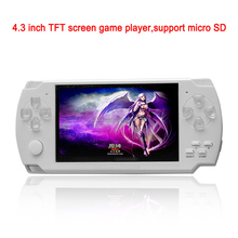 4.3 inch screen build in 8G mp4 video game player mp5 game player with support music ebook