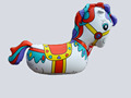 funny inflatable horse riding for kids, inflatable horse toy