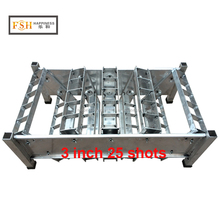 happiness factory hot sale item 3 inch 25 shots adjust angel rack shells display mortar racks