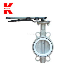 Worm gear handle wafer butterfly valve
