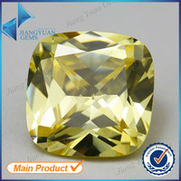 Factory price 5*5mm light olive square cut zirconia gems