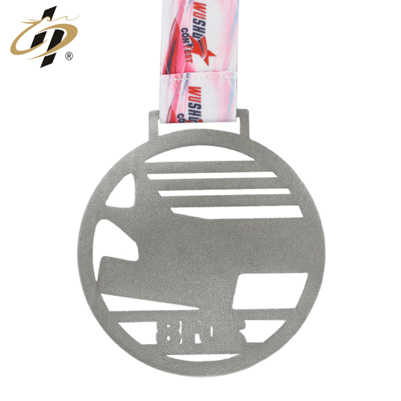 Factory direct wholesale Custom zinc alloy 3d wushue contest sports medal with own design