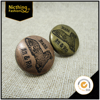 High Fashion Custom Special Retro Design Leopard Shape Bronzed Jeans Button Metal Button Button Badge NB072