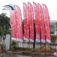 Heat Transfer Display Beach Flag Flying Banners for Advertising
