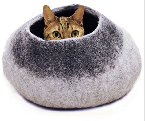 felt pet cat cave bed