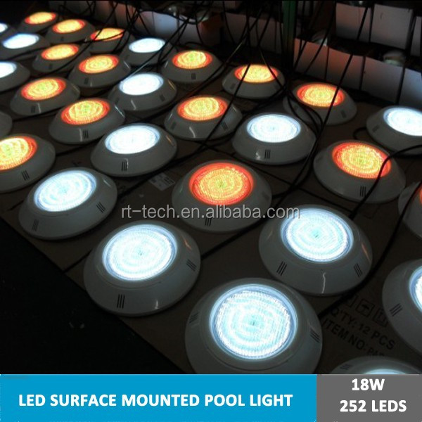 wifi touch remote control multi color rgb led swimming pool light 18w 12v surface flat underwater lamps