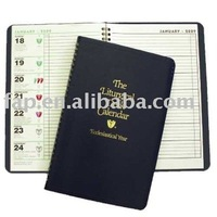 2016 new design promotional notebook calendar with clip