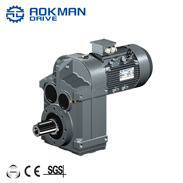 F38 To F68 Parallel Shaft Helical Gear Reducer Box With Electric Motor for Conveyor Belt