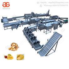 Manufacturing Frying Machinery Fully Automatic Sweet Fresh French Fries Making Production Line Fried Potato Chips Stick Machine