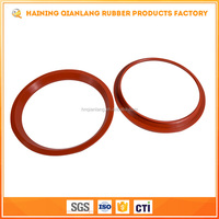2017 Flat O Ring Oil Seal Red Silicone Rubber Gasket