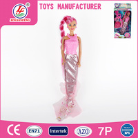 New style 11.5 inch plastic girl mermaid toy dressed in pink