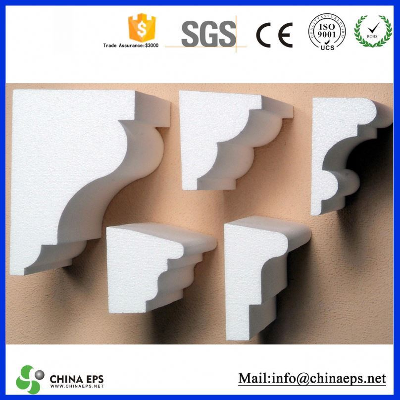 high quality grc column cement window frame mouldings decorating with fake cactus