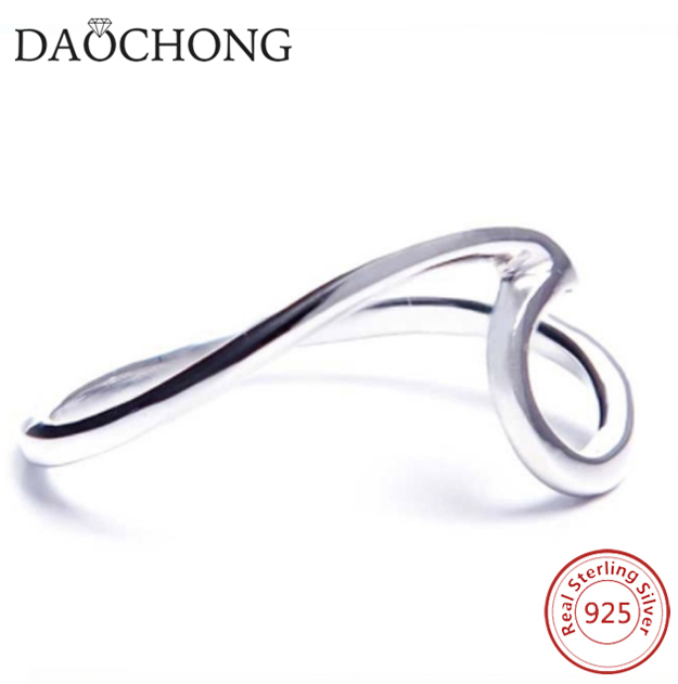 Fashion 925 Sterling Silver Wave Ring