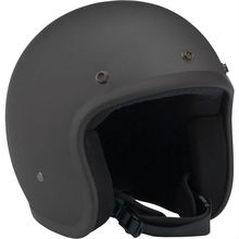 Novelty Half Face Flat Black Out Motorcycle Toy Helmet