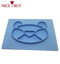 Eco-Friendly Custom Food Grade Baby Christmas Dish Plate Mini One-piece Silicone Baby Placemat For Kids