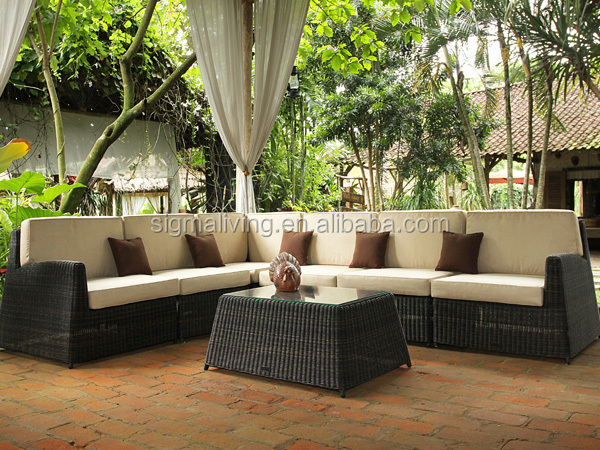 Hot sale new style outdoor furniture rattan contemporary sectional sofa set