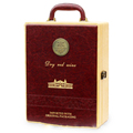 Newest Design Leather Packing Gift Box for Red Wine