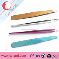 Slanted- Beauty Eyebrow Tweezers Slanted Pointed Tip Stainless Steel Tweezerette