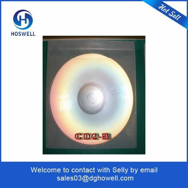 Clear Colored Plastic CD sleeve with flap .plastic CD/DVD pouch