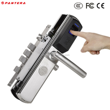 Electric Multifunctional Fingerprint IC Cards Sliding Bolt Door Lock