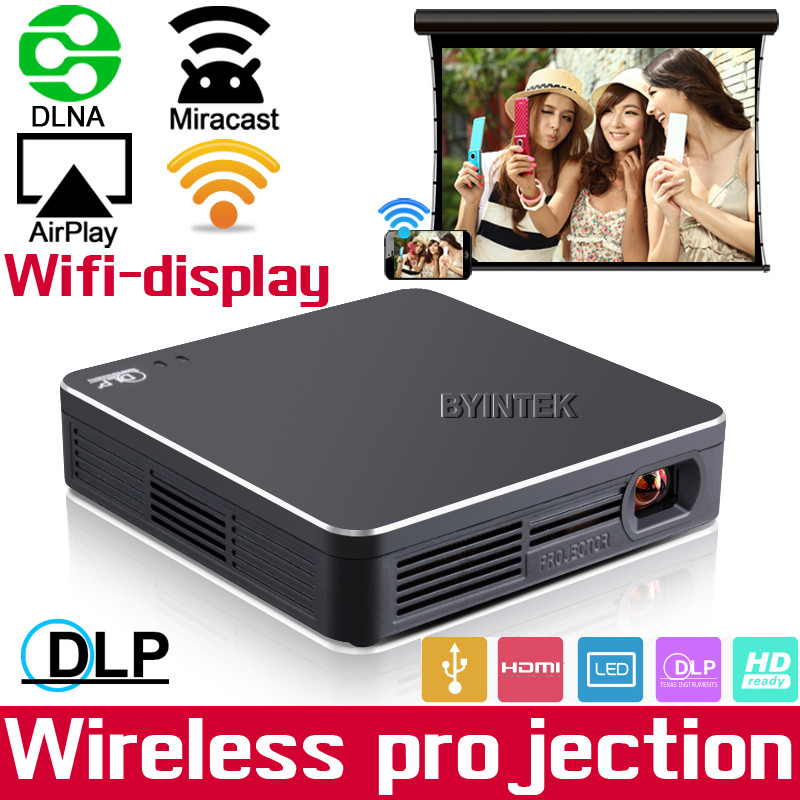 Micro Smart Phone Pocket Micro Mracast Airplay 150ANSI Lumens HDMI full HD 1080P LED projector proyector