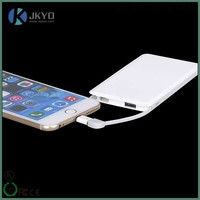 5000mAh Slim Portable USB External Battery Charger with Micro USB Cable for USB-Charged Devices (White)