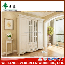 Home Furniture Living Room Solid Wood Clothes Wardrobe cabinet