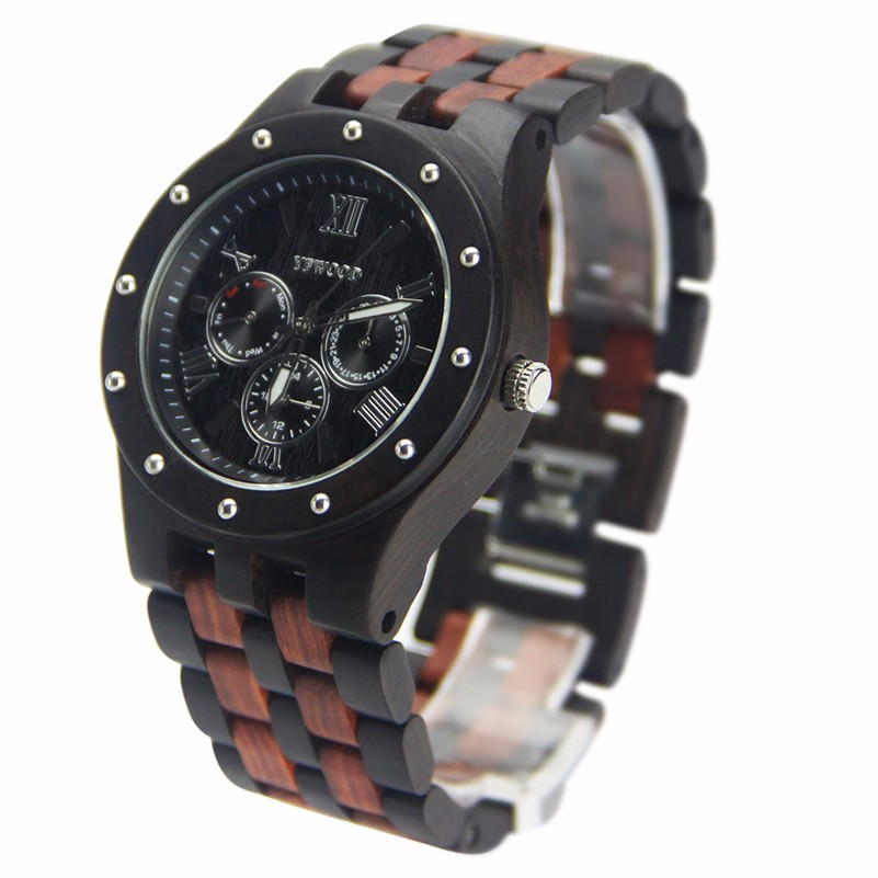 2017 hot trending product customized wood watch wrist men watch