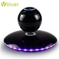New Products 2017Fancy Design 360 Degree Rotate Portable Wireless Rechargeable Magnet Levitating Speaker with Cool LED Flash