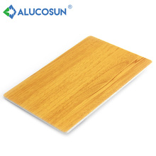 Superb fireproof wooden aluminium composite panel wall board