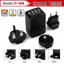 Best innovative corporate gifts charger international universal travel adapter with 4 USB ports charger