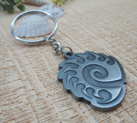 Promotional Keyring Blank Logo Antique Tin Key Chain