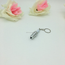 Wholesale Auto Car part keychains /silver LED Spark Plug keychain/ 3D Real spinning Turbo Key rings