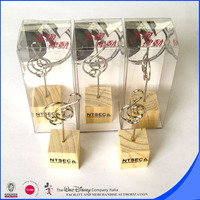 Cube wooden memo clip photo holder customized design