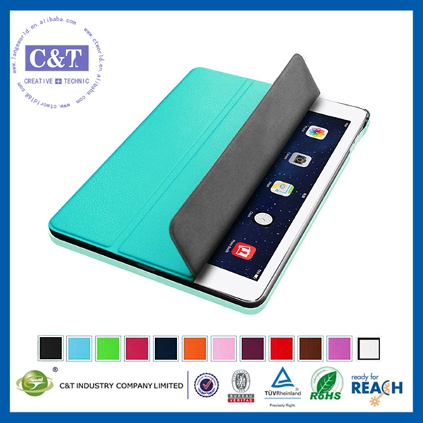 Wholesale Colorful leather book cover for ipad mini 2