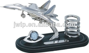 Nice metal airplane model pen holder