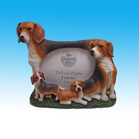 Family of Beagles polyresin photo frames