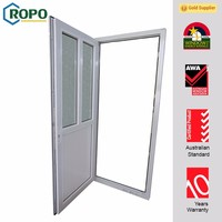 PVC commercial double glass doors,PVC french glass doors