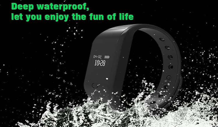 waterproof wristband cut-off alarm gps tracker heart rate bracelet with calories tracker