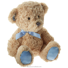 Certificated manufacturer custom soft teddy bear toy with bowtie