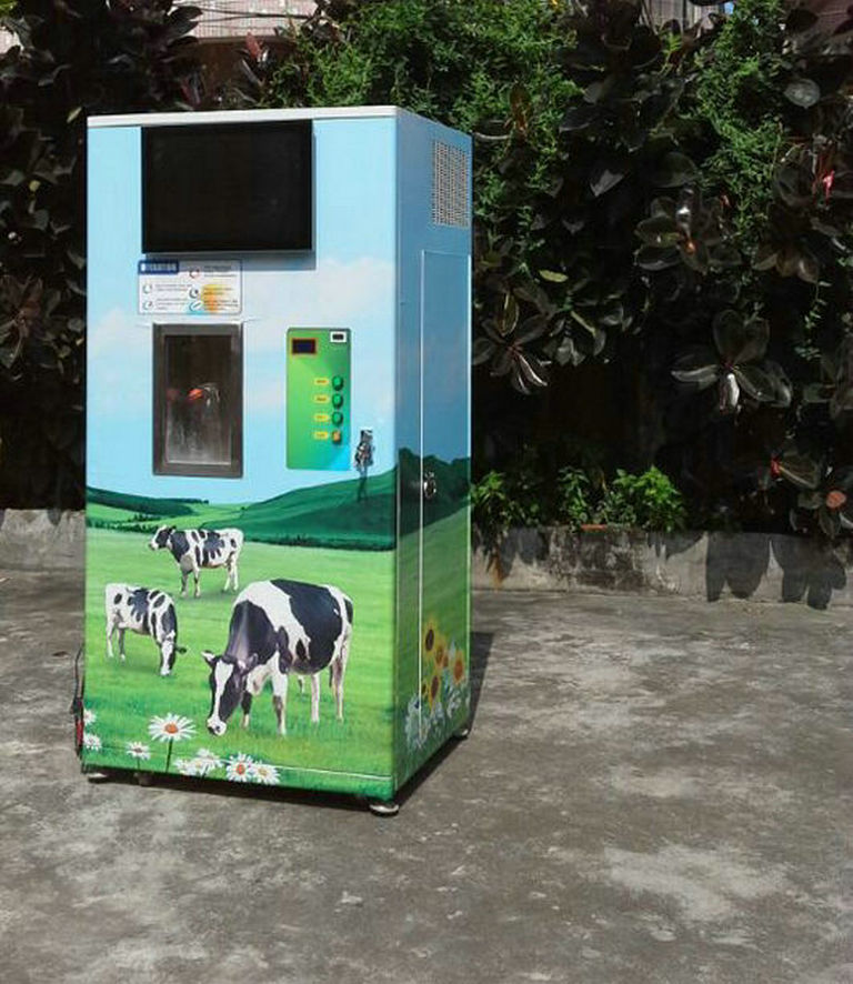 CE approved automatic milk drink vending machine
